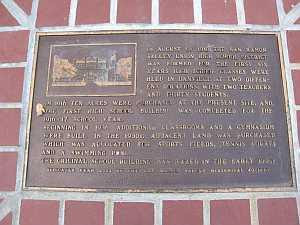 Danville History walk leads you to historic plaque at San Ramon Valley High School